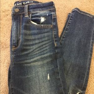 American Eagle super stretch blue jeans!